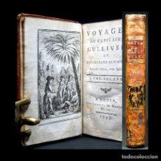 Libros antiguos: AÑO 1797 LOS VIAJES DE GULLIVER ISLA FLOTANTE DE LAPUTA PIRATAS CABALLOS PARLANTES GRABADO SWIFT. Lote 190183380