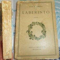 Libros antiguos: LABERINTO JUAN RAMON JIMENEZ ED. RENACIMIENTO MADRID PRIMERA EDICIÓN 1.913 RUSTICA 280 PAGINAS. Lote 190290241
