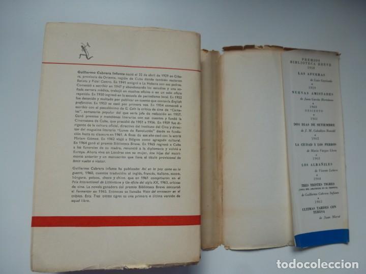 Libros antiguos: TRES TRISTES TIGRES. G. CABRERA INFANTE. PRIMERA EDICIÓN. DIFÍCIL - Foto 5 - 191156118