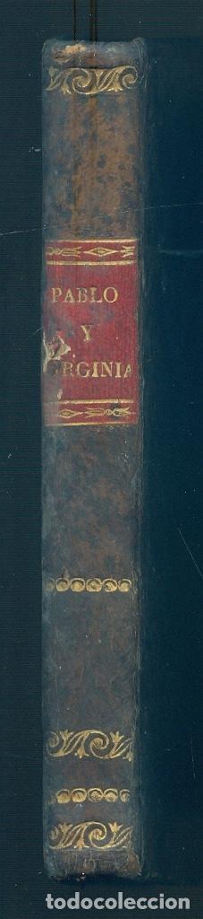 Libros antiguos: NUMULITE L1186 Pablo y Virginia por Jacobo Bernadino Enrique de Saint Pierre 1827 Valencia Mompie - Foto 2 - 191214820