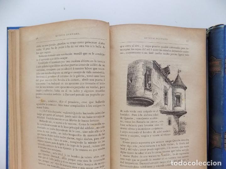 Libros antiguos: LIBRERIA GHOTICA. LUJOSA EDICIÓN DE WALTER SCOTT. QUINTIN DURWARD.1884. 2 TOMOS. GRABADOS. - Foto 3 - 191406607