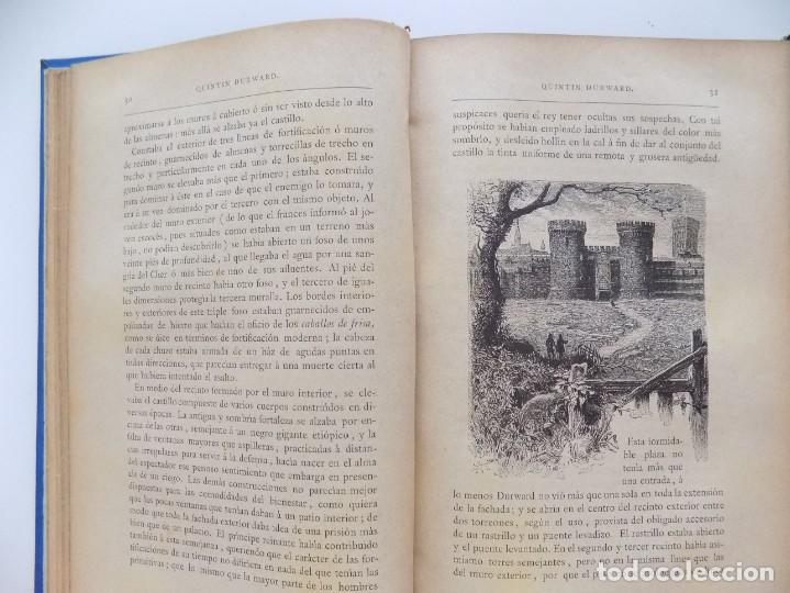 Libros antiguos: LIBRERIA GHOTICA. LUJOSA EDICIÓN DE WALTER SCOTT. QUINTIN DURWARD.1884. 2 TOMOS. GRABADOS. - Foto 4 - 191406607
