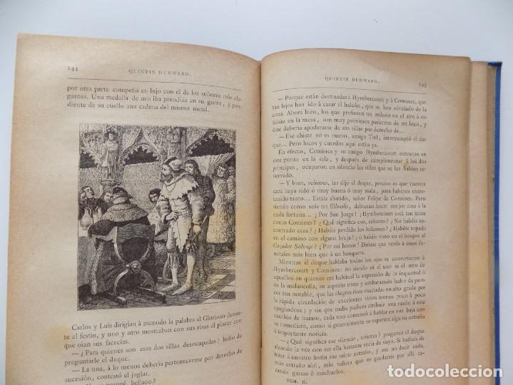 Libros antiguos: LIBRERIA GHOTICA. LUJOSA EDICIÓN DE WALTER SCOTT. QUINTIN DURWARD.1884. 2 TOMOS. GRABADOS. - Foto 6 - 191406607