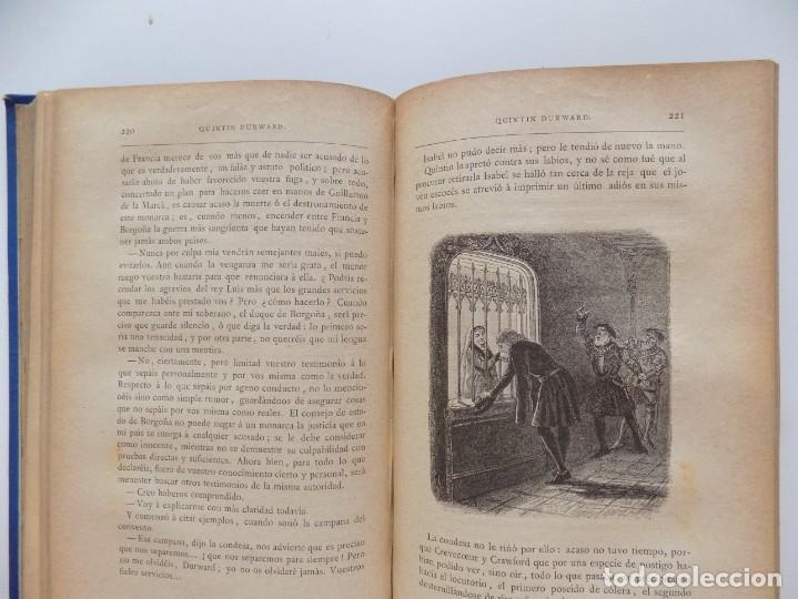 Libros antiguos: LIBRERIA GHOTICA. LUJOSA EDICIÓN DE WALTER SCOTT. QUINTIN DURWARD.1884. 2 TOMOS. GRABADOS. - Foto 7 - 191406607