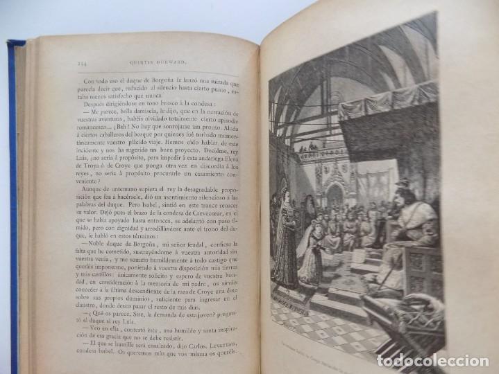 Libros antiguos: LIBRERIA GHOTICA. LUJOSA EDICIÓN DE WALTER SCOTT. QUINTIN DURWARD.1884. 2 TOMOS. GRABADOS. - Foto 8 - 191406607