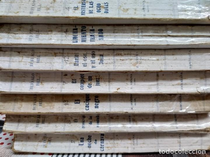 Libros antiguos: Lote de 7 ejemplares. Aventuras extraordinarias de Búffalo Bill. Ramón Sopena. Año 1931. - Foto 2 - 191523715