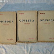 Libros antiguos: ODISSEA - HOMER. TRADUCCIÓ DE CARLES RIBA. TRES VOLUMS, COMPLETA. EDITORIAL CATALANA, ANYS 20. Lote 191558701