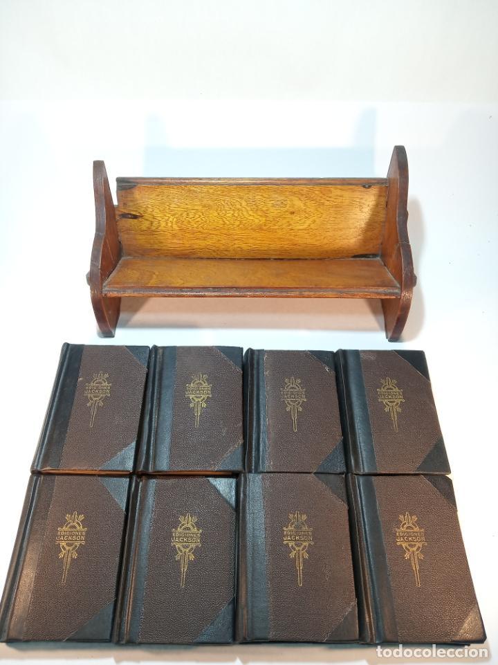 Libros antiguos: Colección de 8 tomos de la colección Jackson de clásicos Argentinos. 1944. Raro. En estantería. - Foto 3 - 191726506