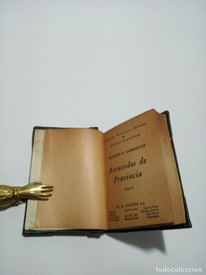 Libros antiguos: Colección de 8 tomos de la colección Jackson de clásicos Argentinos. 1944. Raro. En estantería. - Foto 16 - 191726506