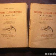 Libros antiguos: EDGAR ALLAN POE (CHARLES BAUDELAIRE): - HISTOIRES EXTRAORDINAIRES - (2 TOMOS) (PARIS, 1916). Lote 191796523