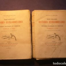 Libros antiguos: EDGAR ALLAN POE (CHARLES BAUDELAIRE):- NOUVELLES HISTOIRES EXTRAORDINAIRES (2 TOMOS) - (PARIS, 1924). Lote 191797080