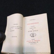 Libros antiguos: LIBRO PEQ. FORMATO. PÉTRARQUE. GRISELIDIS. CONTE. PARIS. LIBRAIRIE DES BIBLIOPHILES. 1872.. Lote 191802290
