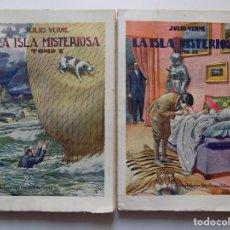 Libros antiguos: LIBRERIA GHOTICA. JULIO VERNE. LA ISLA MISTERIOSA. 1930. OBRA EN 2 TOMOS. FOLIO.. Lote 192015568