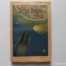Libros antiguos: LIBRERIA GHOTICA. JULIO VERNE. DE LA TIERRA A LA LUNA. 1930. FOLIO.. Lote 192016583