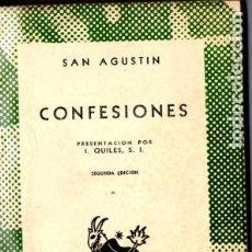 Libros antiguos: SAN AGUSTÍN : CONFESIONES (AUSTRAL 1954)). Lote 192262653