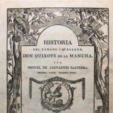 Libros antiguos: HISTORIA DEL FAMOSO CAVALLERO DON QUIXOTE DE LA MANCHA. CON ANOTACIONES POR JUAN BOWLE. 1781. Lote 192381463