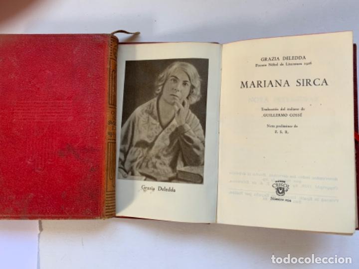 """CRISOL NÚMERO 294 GRACIA DELEDDA. """"MARIANA SIRCA"""" (Libros antiguos (hasta 1936), raros y curiosos - Literatura - Narrativa - Clásicos)"""