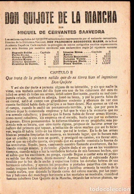 Libros antiguos: CERVANTES : DON QUIJOTE (LA NOVELA CORTA, 1919) - Foto 2 - 192972437