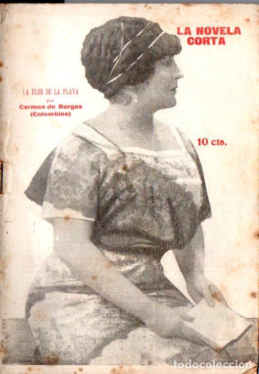CARMEN DE BURGOS COLOMBINE : LA FLOR DE LA PLAYA (LA NOVELA CORTA, 1920) (Libros antiguos (hasta 1936), raros y curiosos - Literatura - Narrativa - Clásicos)