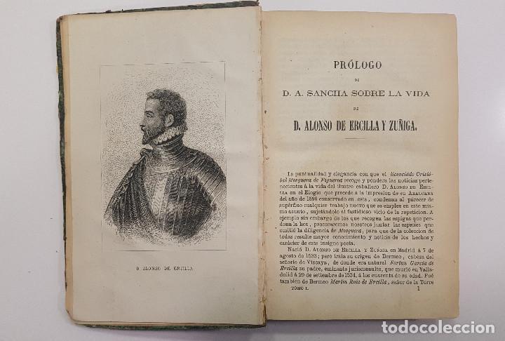 Libros antiguos: 1861. A. de Ercilla LA ARAUCANA con José de Villaviciosa LA MOSQUEA (Sigüenza, Guadalajara). 2 tomos - Foto 2 - 193115678