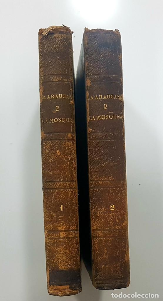 Libros antiguos: 1861. A. de Ercilla LA ARAUCANA con José de Villaviciosa LA MOSQUEA (Sigüenza, Guadalajara). 2 tomos - Foto 4 - 193115678