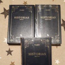 Libri antichi: LIBROS POLIBIO HISTORIAS 3 LIBROS. Lote 193404803