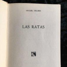 Libros antiguos: LAS RATAS - MIGUEL DELIBES - 1962 - PRIMERA EDICIÓN - DESTINO . Lote 193748067
