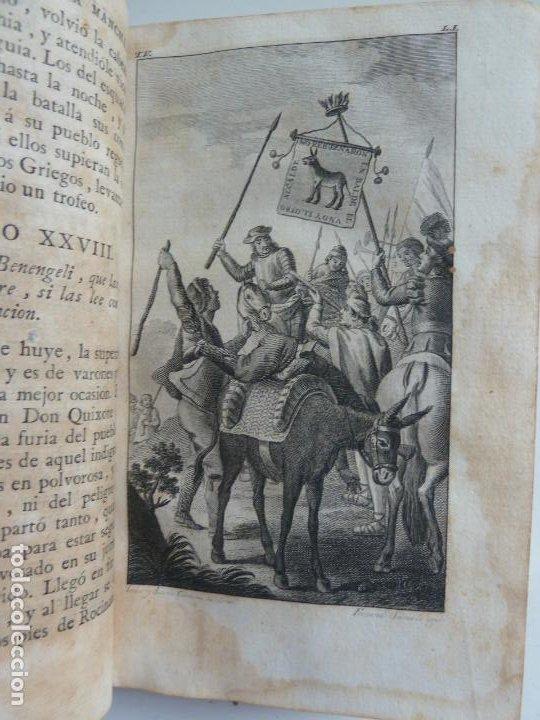 Libros antiguos: EL INGENIOSO HIDALGO DON QUIXOTE DE LA MANCHA. CERVANTES. TOMO V. VIUDA DE IBARRA. MADRID 1787 - Foto 4 - 194080860