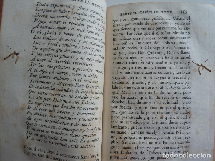 Libros antiguos: EL INGENIOSO HIDALGO DON QUIXOTE DE LA MANCHA. CERVANTES. TOMO V. VIUDA DE IBARRA. MADRID 1787 - Foto 5 - 194080860