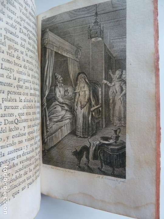 Libros antiguos: EL INGENIOSO HIDALGO DON QUIXOTE DE LA MANCHA. CERVANTES. TOMO V. VIUDA DE IBARRA. MADRID 1787 - Foto 8 - 194080860