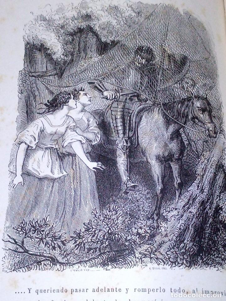 Libros antiguos: ~~~~ BELLISIMA EDICION DE DON QUIJOTE CON ILUSTRACIONES, 1878, GARNIER HERMANOS - PARIS. ~~~~ - Foto 4 - 194202371