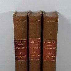 Libros antiguos: QUINTILIEN DE LINSTITUTION DE LORATEUR. 3 TOMOS. M. LABBÉ GÉDOYN. 1812.. Lote 194275941