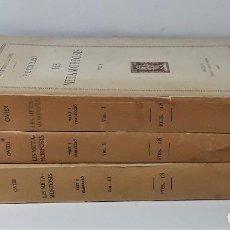 Libros antiguos: LES METAMORFOSIS. 3 TOMOS. P. OVIDI. FUNDACIÓ BERNAT METGE. 1929/1932.. Lote 194290933