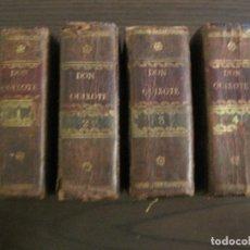 Libros antiguos: DON QUIJOTE DE LA MANCHA-CERVANTES-LIBRO EN 4 TOMOS-IMPRENTA J.ESPINOSA-AÑO 1831-VER FOTOS. Lote 194504122