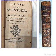 Libros antiguos: AÑO 1772: LAS AVENTURAS DE ROBINSÓN CRUSOE. 2 TOMOS EN 1 VOLUMEN DE ESTE CLÁSICO DEL SIGLO XVIII.. Lote 194515865