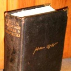 Libros antiguos: OBRAS COMPLETAS POR WILLIAM SHAKESPEARE DE ED. AGUILAR EN MADRID 1949 9ª EDICIÓN. Lote 194675867