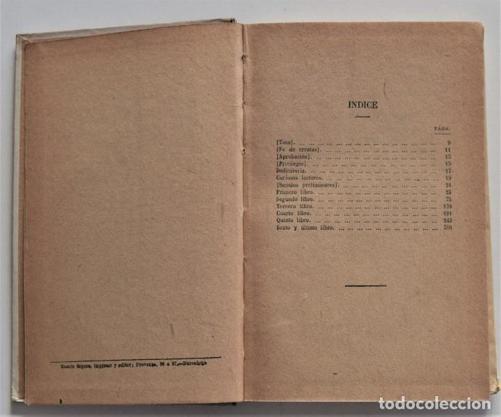 Libros antiguos: MIGUEL DE CERVANTES - PRIMERA PARTE DE LA GALATEA DIVIDIDA EN SEIS LIBROS - BIBLIOTECA SOPENA - Foto 4 - 195022893