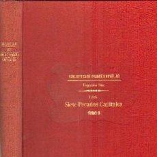 Libros antiguos: LOS SIETE PECADOS CAPITALES TOMO II. SUÉ, EUGENIO. A-RASOP-171. Lote 195169460