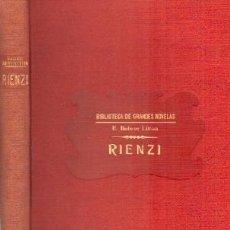 Libros antiguos: RIENZI. BULWER LITTON, E. A-RASOP-174. Lote 195169745