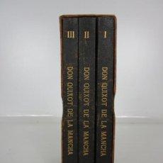 Libros antiguos: CERVANTES - L´ENGINYÓS CAVALLER DON QUITXOT DE LA MANCHA - 3 TOMOS - TRADUCCIÓN A. BULBENA. Lote 195177017