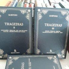 Libros antiguos: LIBROS EURIPIDES TRAGEDIAS I II Y III. Lote 195213133