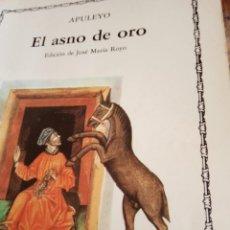Libros antiguos: APUYUELO EL ASNO DE ORO. Lote 195266058