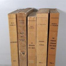 Libros antiguos: BIBLIOTHEQUE HISTORIQUE. 5 EJEMPLARES. VARIOS AUTORES. EDIT. PAYOT. PARÍS. 1935/1959.. Lote 195280616