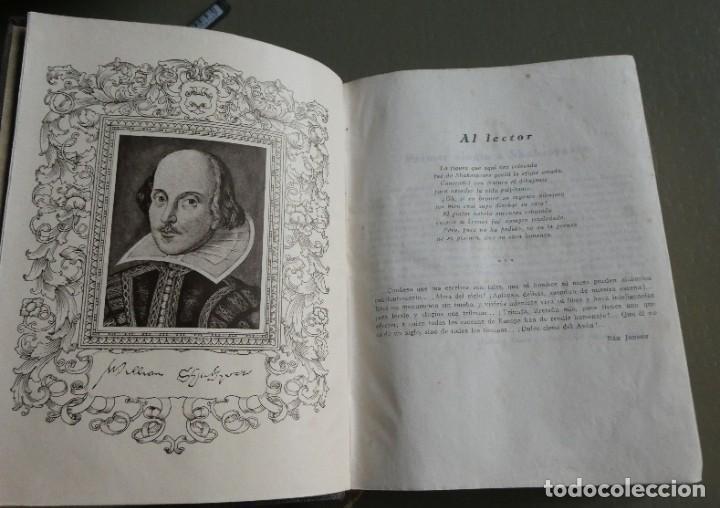 Libros antiguos: William Shakespeare. Obras completas. Ed Aguilar 1933. 3ª ed corregida. Col. Obras eternas - Foto 3 - 195337783
