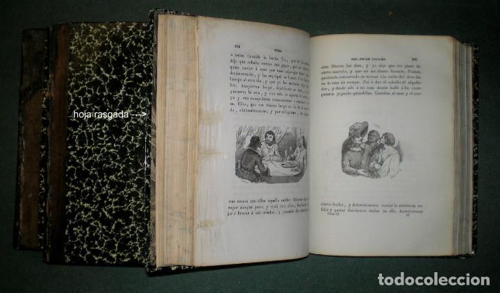 Libros antiguos: Obras de D. Francisco de Quevedo Villegas. 5 tomos encuadernados en 3 volúmenes. 1841-1845 - Foto 5 - 195370523