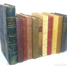 Libros antiguos: 1776 - LOTE DE 12 LIBROS ANTIGUOS - TOLSTOI, DUMAS, LA FAYETTE, MONTESQUIEU - ENCUADERNACIONES. Lote 195480957