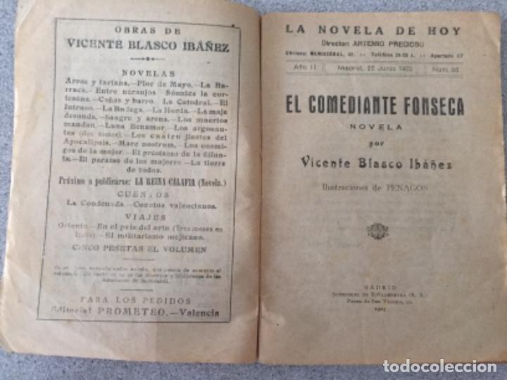 Libros antiguos: La novela de hoy. El comediante Fonseca - Foto 3 - 195607148