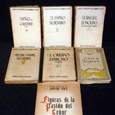 Libros antiguos: GABRIEL MIRÓ. OBRAS COMPLETAS. LOTE DE 7 LIBROS. BIBLIOTECA NUEVA, AÑOS 1928-38. Lote 195672923
