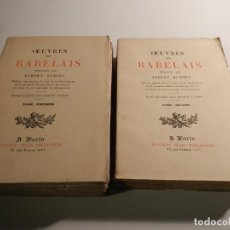 Libros antiguos: OEUVRES DE RABELAIS ( FRANCOIS ) ED JULES TALLANDIER 1886 ILUSTRACIONES ALBERT ROBIDA - FACSIMIL . Lote 195713943