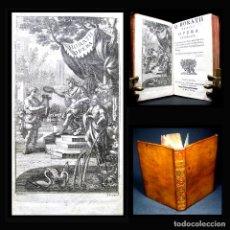 Libros antiguos: AÑO 1762 SOLO 1 EN ESPAÑA! Q. HORATII FLACII EXPURGATA ANTIGUA ROMA GRABADO HORACIO VIDA ODAS BARBOU. Lote 195723675